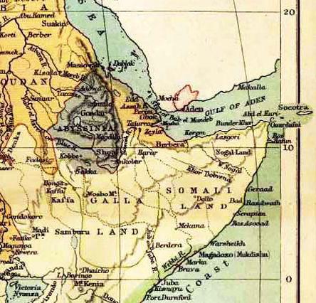 "Extrait de ""Historical map of Africa by John Bartholomew, F.R.G.S, 1885."" Public domain, via Wikimedia Commons http://www.nationsonline.org/oneworld/map/africa-historical-map-1885.htm"